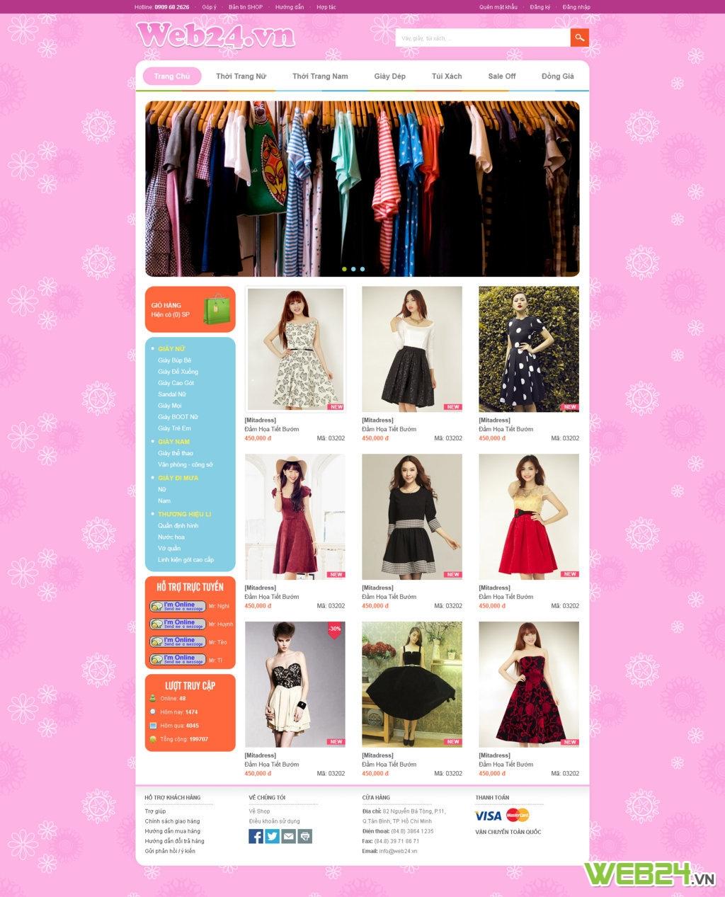 Mẫu web Shop thời trang