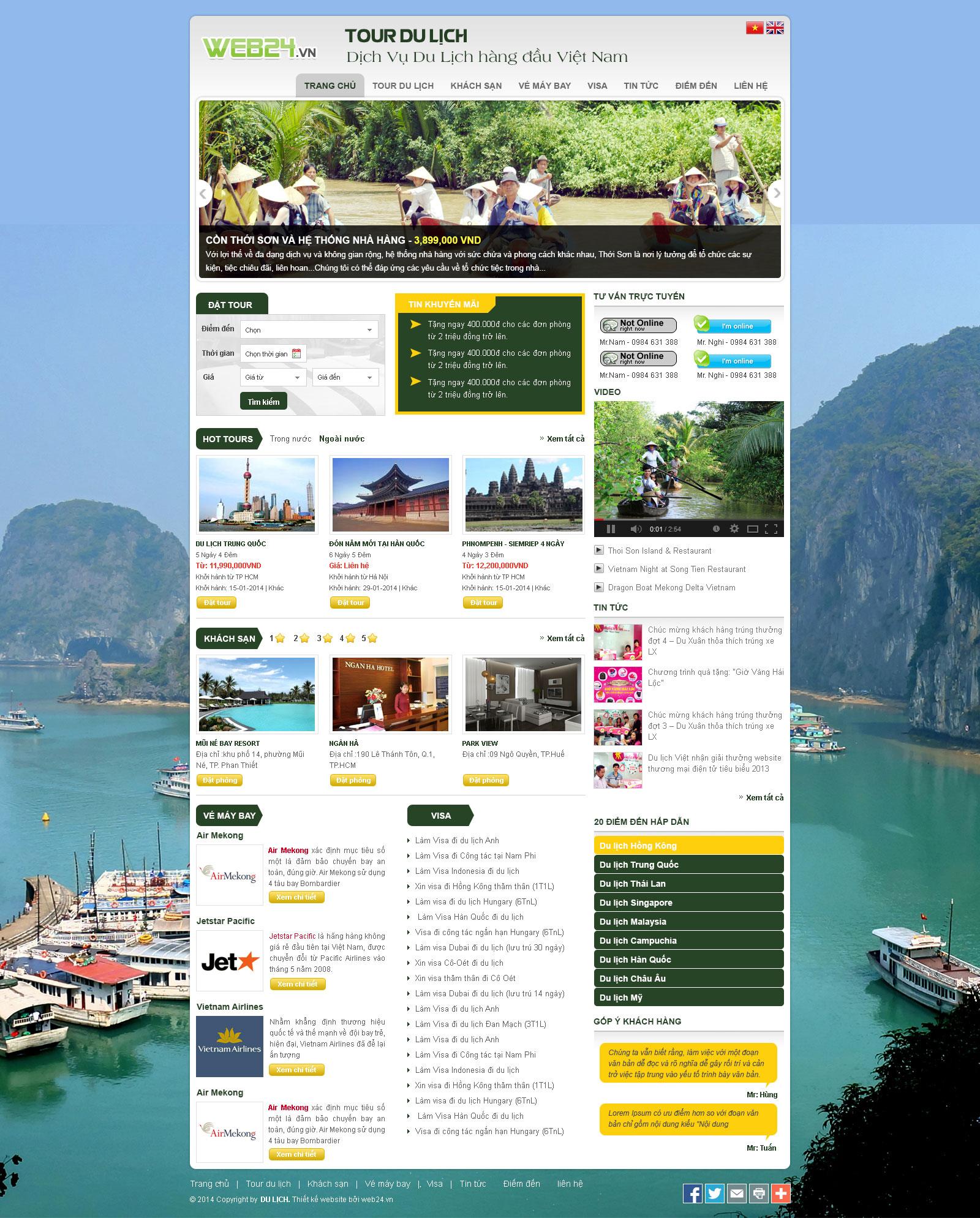 Mẫu web du lịch 03