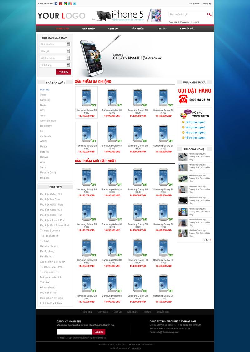 Website Bán điện thoại - linh kiện
