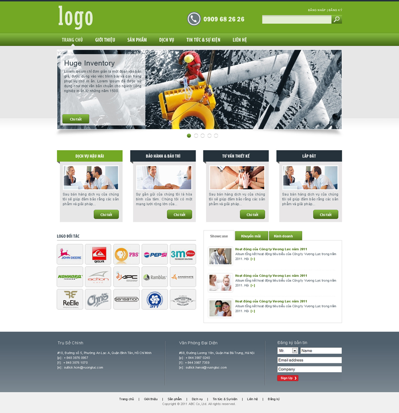 Website Máy móc - Thiết bị